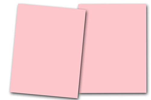 Premium Smooth Matte Pastel Pink Card Stock 80 Sheets - 80 lb. Cover - Great for Scrapbooking, Crafts, Flat Cards, Folded Cards, Weddings, Events, Showers,DIY Projects, Etc. (5 x 7)