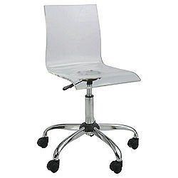 Superieur Office Swivel Chair. Clear Acrylic Seat U0026 Chrome. Gas Lift Height Adjust  Casters