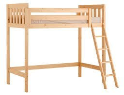 Loft Bunk Bed - 3ft single wooden high sleeper bunkbed - Ladder can go left or right - CAN BE USED BY ADULTS by Strictly Beds Goodwood Loft Bunk Bed