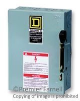 SQUARE D BY SCHNEIDER ELECTRIC D221N SWITCH, SAFETY, FUSIBLE, DPST, 30A, 240V