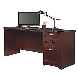 Realspace Magellan Performance Straight Desk (Cherry) (Realspace Magellan Performance Collection L Desk Espresso)