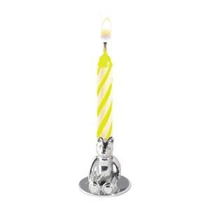 Teddy Bear Birthday Candle Holder In Sterling Silver By Carrs Of