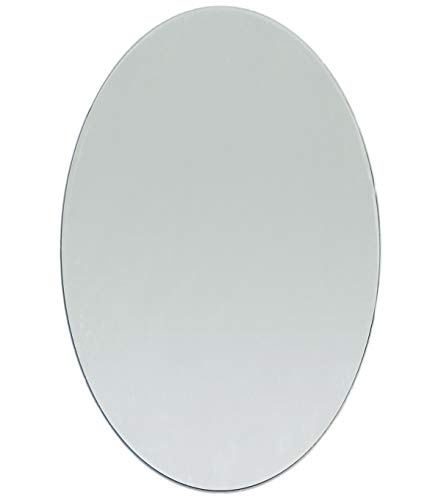 - 8 x 6 inch Large Craft Oval Mirror 1 Piece Mosaic Mirror Tiles