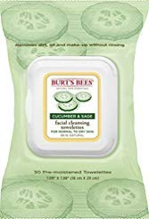Burts Facial Towlettes Cucumber and Sage Cleasing Facial Towel 30 cnt (2-Pack)
