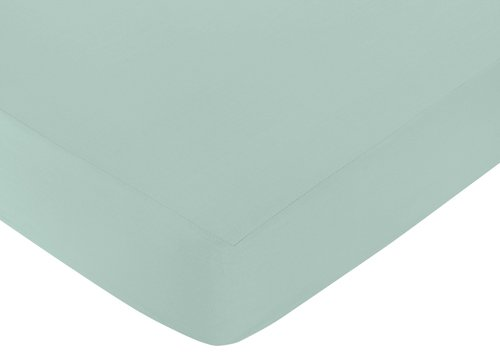Sweet Jojo Designs Fitted Crib Sheet for Outdoor Adventure Baby/Toddler Bedding - Aqua Blue