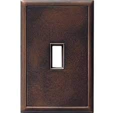 (1 Toggle Screwless Cast Metal Wall Plate - Oil Rubbed Bronze)