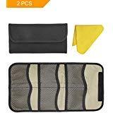 HansGo Filter Case, 2PCS 6-pocket Camera Lens Filter Pouch Filter Bag for 25mm-82mm Filters