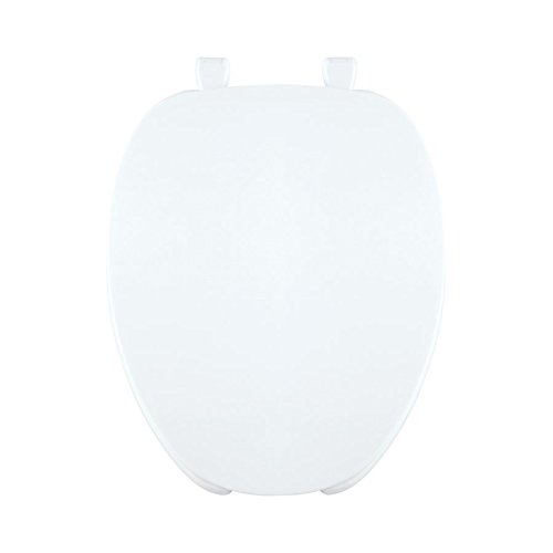 Centoco 620-001 Plastic Elongated Toilet Seat with Open Front, White