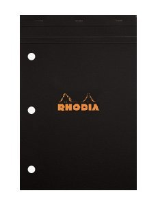 Rhodia Staplebound Black 8.25 x 11.75 Lined with Margin 3...