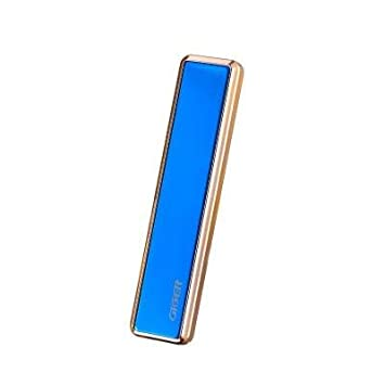 BestPriceEver USB Electronic Rechargeable Cigarette Lighter Slim Luxury Glossy Lighter wind proof New Slide Design Luxurious  Blue