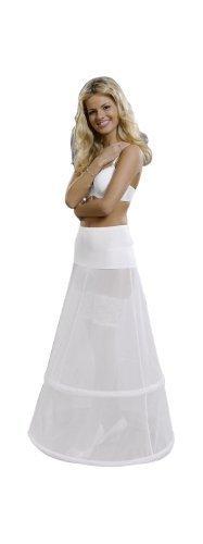MGT-Shop - Falda - para mujer blanco marfil