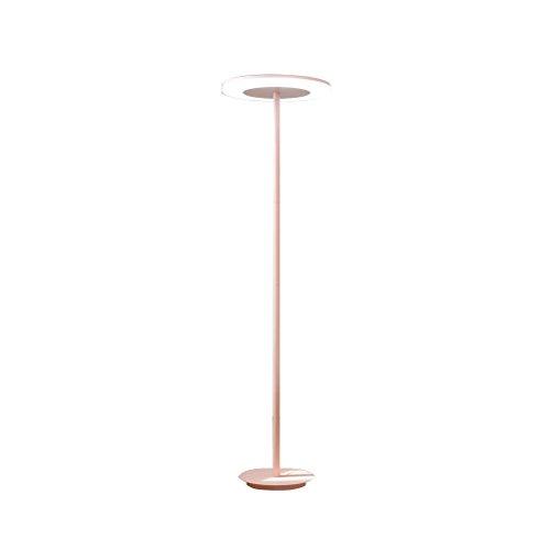 FORWIN Floor Lamp w- Children's Bedroom Macarons Floor Lamp Minimalist Nordic LED Vertical Floor Lamp Trichromatic Light Pink 146x28cm Indoor Lighting