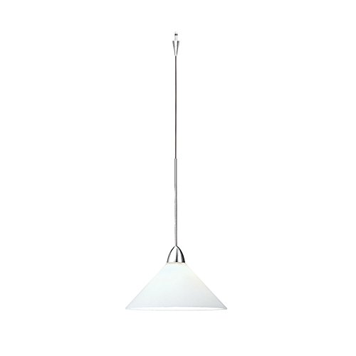 (WAC Lighting QP-LED512-WT/CH Jill Quick Connect LEDme Pendant with White Shade and Chrome Socket Set)