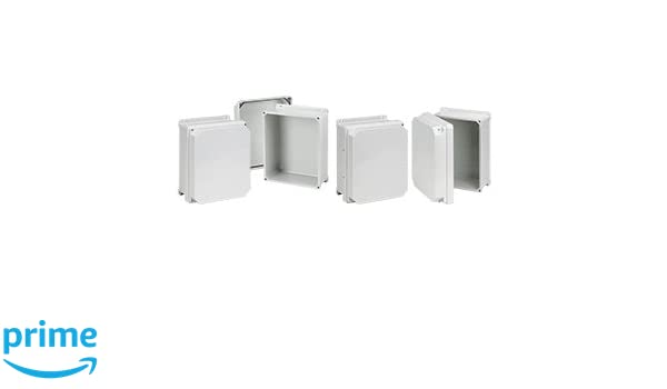 Fiberglass 13.30 x 11.29 x 7.10 HFRHJ1210WLG 13.30 x 11.29 x 7.10 Enclosure Hoffman RHJ1210WLG Raised Screw Cover