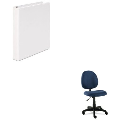 KITALEVT48FA20BUNV20962 - Value Kit - Best Essentia Series Swivel Task Chair (ALEVT48FA20B) and Universal Round Ring Economy Vinyl View Binder (UNV20962)