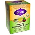 Yogi Herbal Tea, Green Tea Kombucha Decaf 16 ea ( pack of (Plum Decaf Tea)