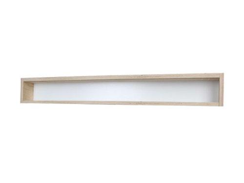 70 x 11 x 8,5 cm avec Rainures Collection Miniatures Bois de Bouleau Non Trait/é V70.1a Vitrine Murale 2 Vitres Plexiglas Coulissantes Voitures /Échelle H0 et N 1 /Étag/ère Trains