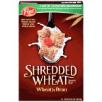 Post Shredded Wheat and Bran Cereal 18 oz (Pack of 10)