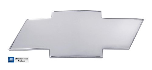Bow Tie Polished Emblem - AMI 2001-2002 Chevrolet Silverado 2500 3500 HD Front Grille Bowtie Emblem - Polished w/o Border