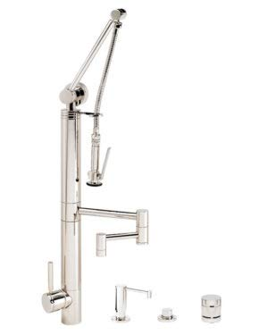 Brass 4pn Polished (Waterstone 3710-12-4-PN Contemporary Gantry Faucet 12