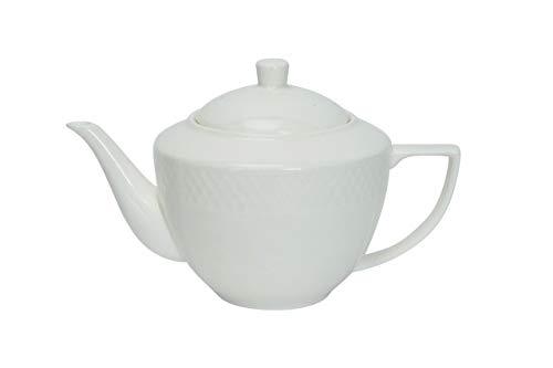 - Wilmax WL-880110, 30 oz. Julia Collection White Porcelain Tea Pot, Classic European Bone China Traditional Teapot with Lid, Gift Box