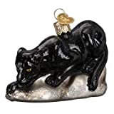 Old World Christmas Blown Glass Prowling Panther Ornament