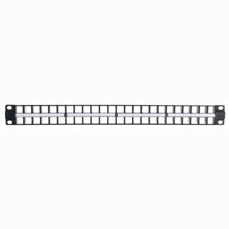 - Leviton 49255-D48 QuickPort 48 Port 1RU High Density Patch Panel - Black