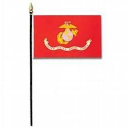 Marine Corps Miniature Flag (4 in. x 6 in.)