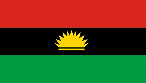 magFlags Large Flag Biafra | Landscape Flag | 1.35m² | 14.5sqft | 90x150cm | 3x5ft - 100% Made in Germany - Long Lasting Outdoor Flag