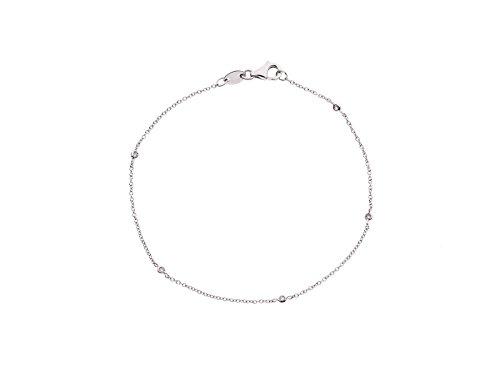 & You - Bracelet Chaîne - Argent 925 - Diamant 0.05 cts - 18 cm - DY-BR37