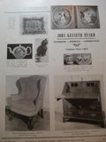 Advertisement: John Kenneth Byard, Silvermine, Norwalk, Connecticut Walnut Chippendale Wing Chair, Staffordshire, Frederick of Prussia