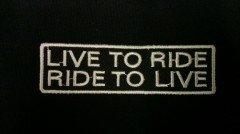 Parche biker 'Live to Ride' 'Ride to live' AMT CUSTOM 37/PT-LTR