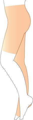 メディプラス 片脚パンティストッキング ロング丈 左脚用 つま先無し 圧迫力クラス1 B00SO69RS8 L ベージュ ベージュ L