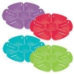 Plastic Flower-Shaped Veggie & Dip Trays (Lime Green)