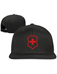 (Custom Unisex Black Adjustable Cool Swiss Army Snapback Flat Hip-hop Hat One Size )