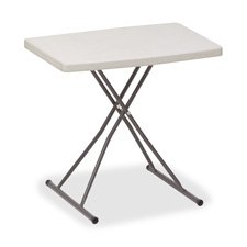 Personal Table, Adjusts,25 lb. Cap., 30''''x20''''x28'''', Platinum, Sold as 1 Each