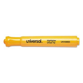 Desk Highlighter Chisel Tip Fluorescent Orange 12/Pk