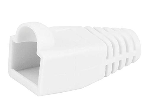 Monoprice [50pcs] RJ-45 Color Coded Strain Relief Boots - White
