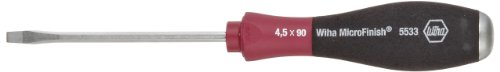 Wiha 53310 Slotted Screwdriver, Heavy Duty with MicroFinish