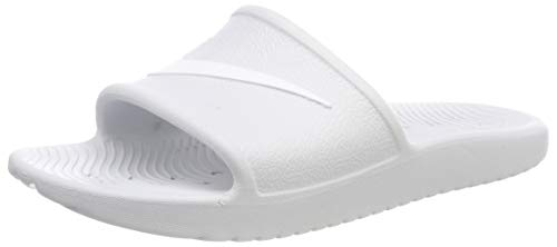 (Nike Women's Kawa Shower Slide Sandals, 8832655-010 (8 B(M) US, Pure Platinum/White))
