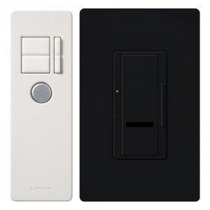 Dimmer Switch, 1000W Multi-Location Maestro IR Wireless Light Dimmer w/ Remote - Black-2PK