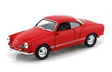 Welly Volkswagen Karmann Ghia Coupe Red pull back functional doors ( new no box)