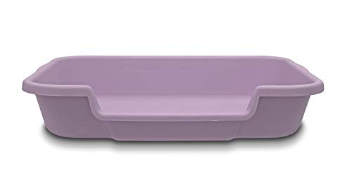 Kitty Go Here Senior Cat Litter Box for Cats That Cant cope with a Traditional Litter Box. Lavender Color See Photo of Dimensions.No lid Available. USA