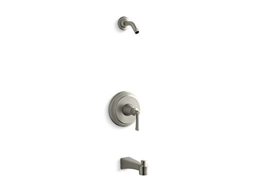 KOHLER TLS11077-4-BN Archer(R) Rite-Temp(R) bath and shower valve trim with lever handle and spout, less showerhead ()