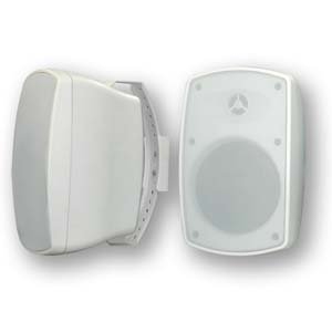 InstallerParts Indoor / Outdoor Wallmount 2-way Speaker White BL520 1 Pair (2pc) by InstallerParts
