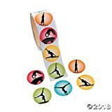 Gymnastics Stickers - 100 per roll