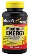 Mason Natural Maximum Energy With Guarana, Panax Ginseng and Kalanut Tablets - 60 Ea (Ginseng Energy compare prices)