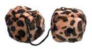 Leopard Fuzzy Dice 3