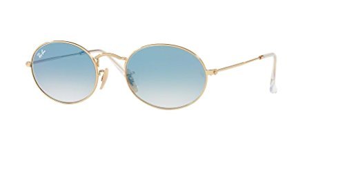 Ray-Ban RB3547N OVAL 001/3F 54M Arista/Crystal White Blue Gradient Sunglasses For Men For Women