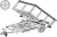 AD08 Trailer Plan - 8' x 5' Dump Bed 3.5K or 5.2k Trailer DIY How-to Blueprint by Master Plans & Design